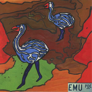 Emu parade cd art by David Nichols